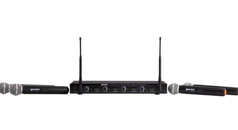 Gemini UHF-04M 4-Channel Wireless Microphone System UHF-04M-S1234