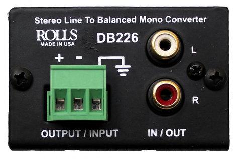 Art Line Level Converter : Rolls db226 stereo line to balanced mono converter full compass