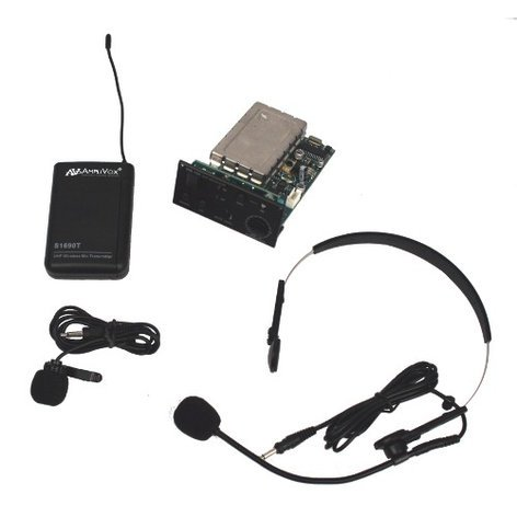 AmpliVox S8112  Wireless Receiver with Lapel, Headset Mic, & Transmitter S8112