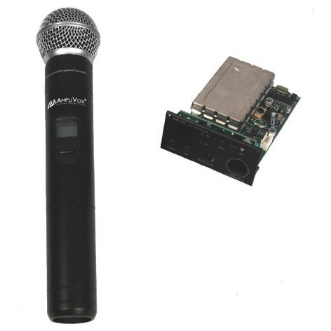 AmpliVox S8122  Wireless Receiver with Handheld Microphone and Transmitter S8122
