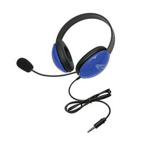 Califone International 2800-BLT  Blue Listening First Stereo Headset with To Go Plug 2800-BLT