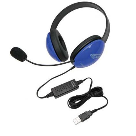 Califone International 2800BL-USB  Listening First Stereo Headset in Blue with USB Connection 2800BL-USB