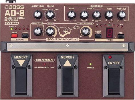 Boss AD8 Acoustic Guitar Processor with COSM AD8-BOSS