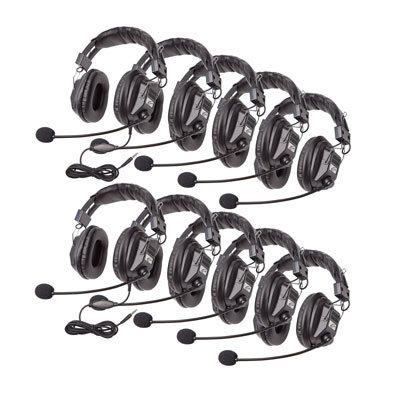 Califone International 3068AV-10L  Classroom 10-Pack of Switchable Stereo/Mono Headphones  3068AV-10L