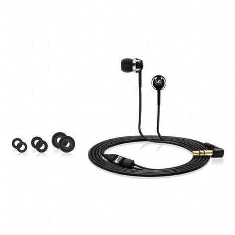 Sennheiser CX100-BLACK Universal In-Ear Headphone, Black CX100-BLACK
