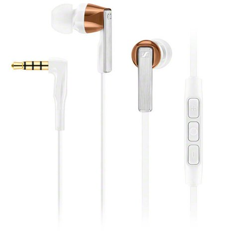 Sennheiser CX 5.00i In-Ear Headphones with Integrated Smart Remote and Microphone, for Use with iOS Devices, White CX500I-WHITE