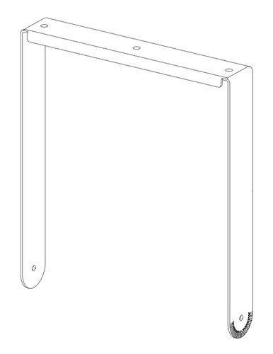Community VB-VY15-WHITE Vertical Yoke Kit for Veris2 15 in White VB-VY15-WHITE