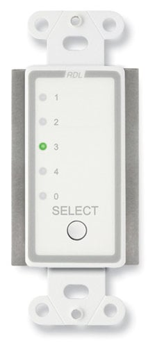 RDL D-RCS4  Remote Channel Selector, 4 Channels, Controls RU-ASX4D/R D-RCS4