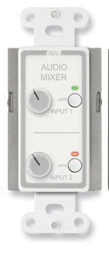Radio Design Labs DS-RC2M  Remote Audio Mixing Control with Muting, Stainless DS-RC2M