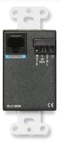 RDL DS-RLC10KM  Remote Level Control with Muting, Stainless Steel DS-RLC10KM