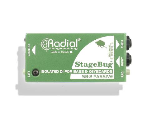 Radial Engineering STAGEBUG-SB2 StageBug SB-2 Compact Passive DI for Instruments STAGEBUG-SB2