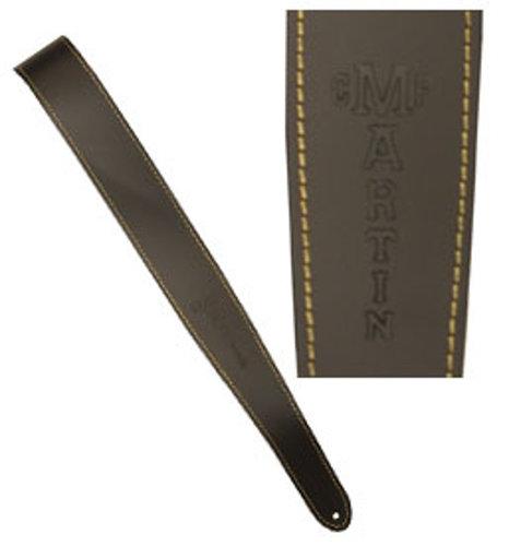Martin Guitar 18A0045 Slim Leather Guitar Strap in Brown 18A0045