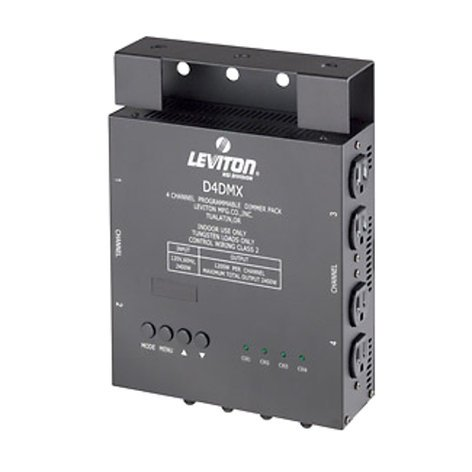 Leviton D4-DMX 4-Channel Programmable Dimmer Pack D4-DMX-3