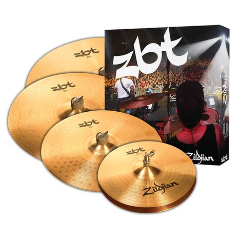 "Zildjian ZBT 5 Cymbal Set 5 Cymbal Set 14"" Hi-Hats,16"" Crash, 20"" Ride with free 18"" Crash ZBTP390A"