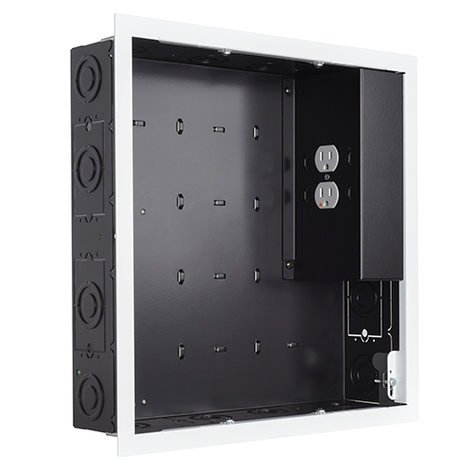Chief Manufacturing PAC526FWP2  In-Wall Storage Box with Dual-Receptacle Outlet PAC526FWP2
