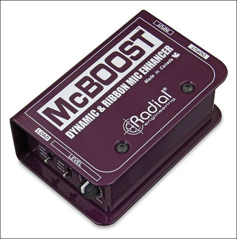 Radial Engineering MCBOOST Microphone Signal Booster for Dynamic and Ribbon Microphones MCBOOST