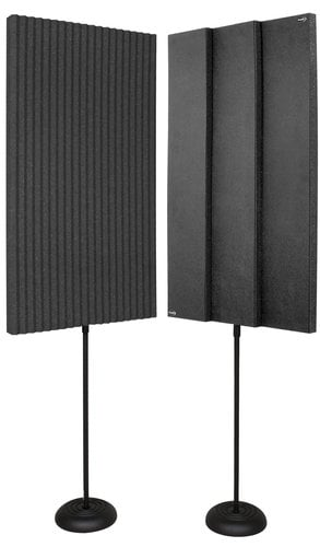 "Auralex ProMAX V2 (2) 3"" x 24"" x 48"" ProMAX V2 Panels with (2) Floor Stands PROMAX-V2"
