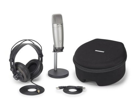 Samson SAC01UPROPK C01U Pro Podcasting Pack USB Studio Condenser Microphone with Accessories SAC01UPROPK