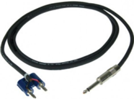 """Pro Co S14BQ-6 6 ft 14AWG Speaker Cable with Banana Plug & 1/4"""" S14BQ-6"""