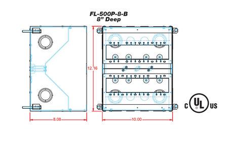 "FSR, Inc FL-500P-8-B 8"" Deep Floor Box with Steel Temporary Construction Cover FL-500P-8-B"
