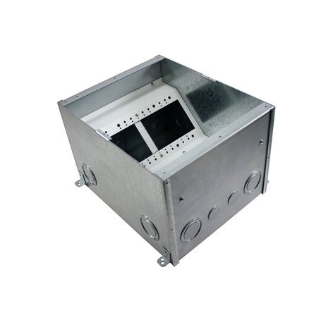 "FSR, Inc FL-500P-8-B [RESTOCK ITEM] 8"" Deep Floor Box with Steel Temporary Construction Cover FL-500P-8-B-RST-01"