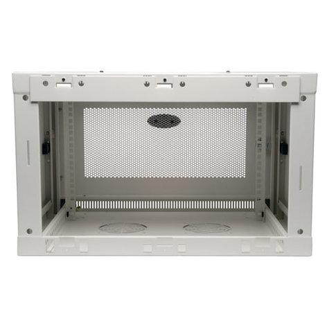 Tripp Lite SRW6UW  SmartRack 6RU Low-Profile Wall-Mount Rack Enclosure Cabinet, White SRW6UW
