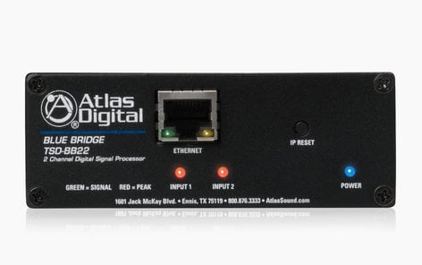 Atlas Sound TSD-BB22  BlueBridge® 2 Input x 2 Output DSP Audio Processor  TSD-BB22