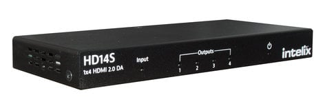 Intelix HD14S  1x4 HDMI 2.0 18G Distribution Amplifier Supports 4K60 4:4:4 HD14S