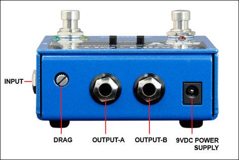Radial Engineering TWIN-CITY-BONES Twin-City Bones Active AB/Y Buffered Switcher Pedal TWIN-CITY-BONES