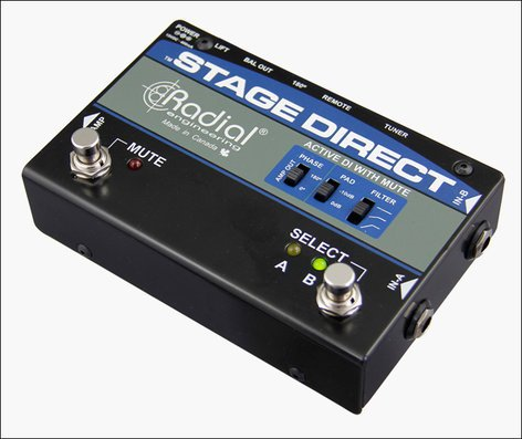 Radial Engineering StageDirect Active DI Box with Muting STAGE-DIRECT