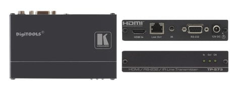 Kramer TP-573 [RESTOCK ITEM] HDMI, Bidirectional RS-232 & IR Over Twisted Pair Transmitter TP-573-RST-03