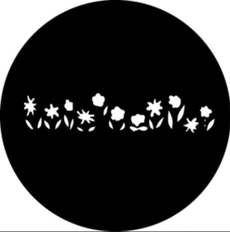 GAM G573  Fairytale Flowers Steel Gobo G573
