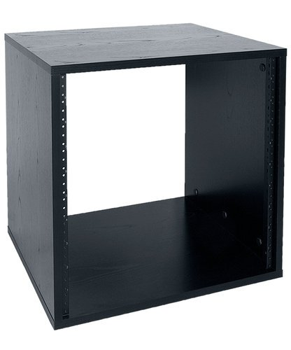 "Lowell LLR-1018-B 10RU, 18"" Deep Laminated Rack, Unassembled, Black LLR-1018-B"