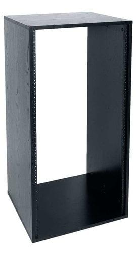 """Lowell LLR-2118-B  21RU, 18"""" Deep Laminated Rack, Unassembled, Black LLR-2118-B"""