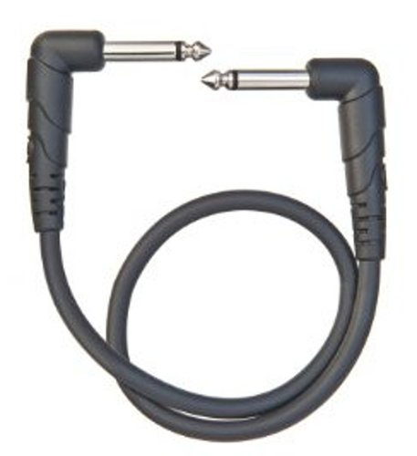 "Planet Waves PW-CGTPRA-01 1 ft Classic Series Patch Cable with 1/4"" Right Angle Connecrtors PW-CGTPRA-01"