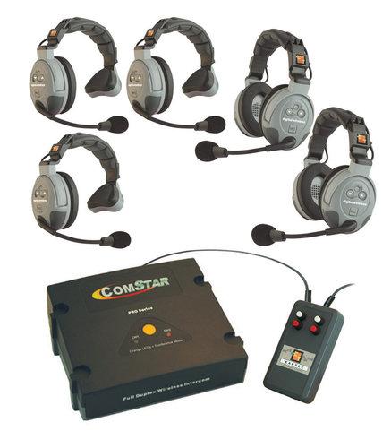 Eartec Co CSXTPLUS-5 XT-Plus Com-Center with Interface and 5 Headsets CSXTPLUS-5