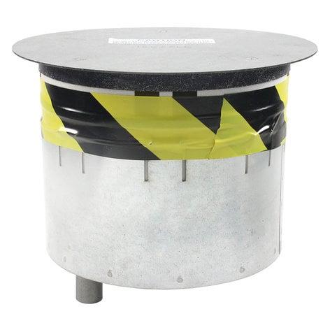 "FSR, Inc SmartFit 8 8"" Poke-Thru Floor Box with Black Cover and 2 Sub-Plates FSRSF8CPTJNC1BLK"