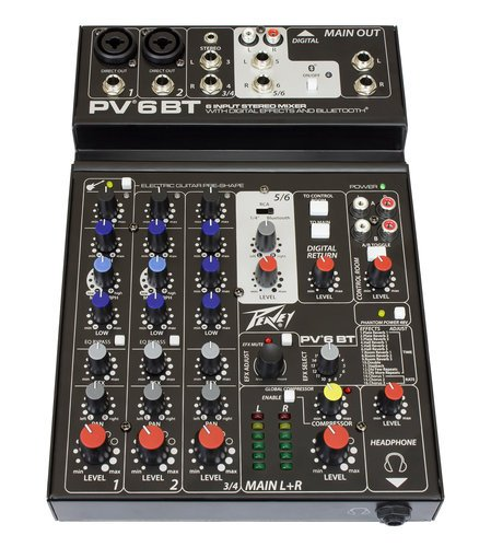 Peavey PV-6BT Compact Mixer with Bluetooth PV-6BT