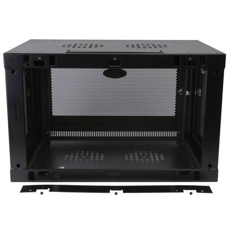 Tripp Lite SRW6UDP  SmartRack 6RU Low-Profile Switch-Depth-Plus Wall-Mount Rack Enclosure Cabinet, Black SRW6UDP