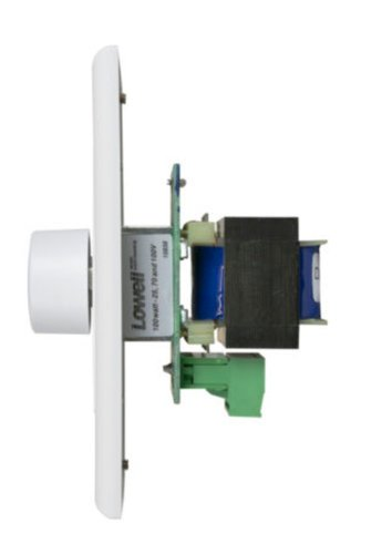Lowell 100LVC-DW Volume Control Attenuator (100 W, Auto-Trans, 3dB Step, Single Gang, Decora White) 100LVC-DW
