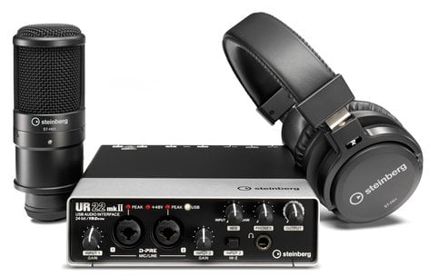 Steinberg UR22mkII Recording Pack 2 x 2 USB 2.0 Audio Interface with 2 x D-PRE and 192 kHz support UR22MKII-REC-PACK