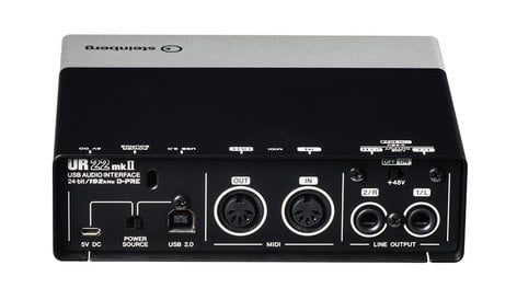 Steinberg UR22MKII-REC-PACK UR22mkII Recording Pack 2 x 2 USB 2.0 Audio Interface with 2 x D-PRE and 192 kHz support UR22MKII-REC-PACK