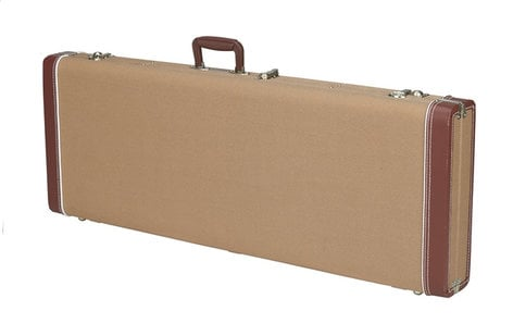 Fender G&G Deluxe Hardshell Case for Jazz Bass Harshell Case Tweed with Red Poodle Plush Interior 099-6173-400