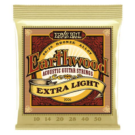 Ernie Ball P02006  Earthwood Extra Light 80/20 Bronze Alloy Acoustic Guitar Strings P02006