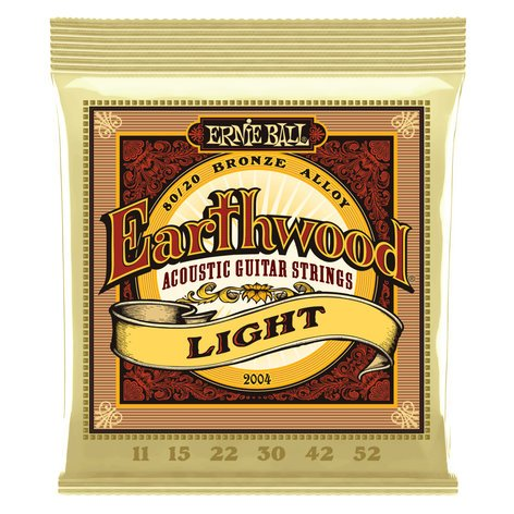 Ernie Ball P02004  Earthwood Light 80/20 Bronze Alloy Acoustic Guitar Strings P02004
