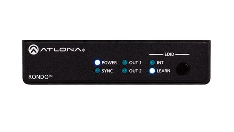 Atlona Technologies Rondo 442 4K HDR Two-Output HDMI Distribution Amplifier  AT-RON-442
