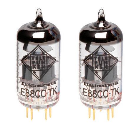 Telefunken E88CC-TK-PAIR Pair of E88CC Black Diamond Series Preamplifier Vacuum Tubes E88CC-TK-PAIR