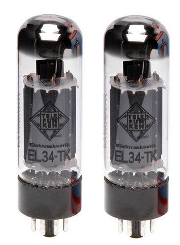 Telefunken Elektroakustik EL34-TK-PAIR Pair of EL34 Black Diamond Series Power Amplifier Vacuum Tubes EL34-TK-PAIR