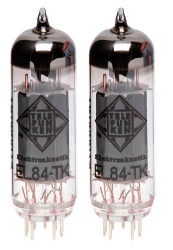 Telefunken Elektroakustik EL84-TK-PAIR Pair of EL84 Black Diamond Series Power Amplifier Vacuum Tubes EL84-TK-PAIR