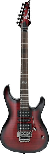 Ibanez KIKOSP2 Kiko Loureiro Signature 6-String Electric Guitar, Transparent Red Burst KIKOSP2TRB